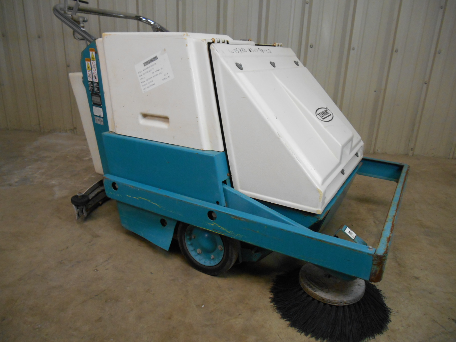 Used Tennant Model 186 Walk Behind Floor Sweeper