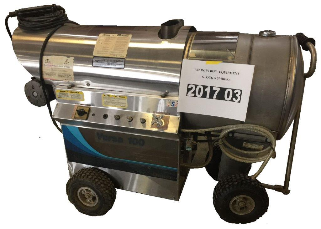 Used Delco Versa 100 Hot Water 110 Volt    Diesel 3gpm