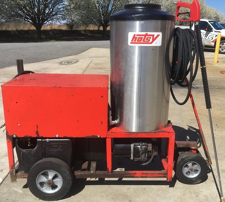 Used Hotsy 980ss Hot Water 1ph Diesel 4gpm 2000psi