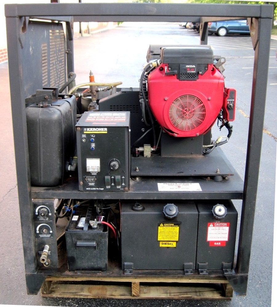 Used Karcher Hds 8 0 Hot Water Gas Diesel 8gpm 3000psi