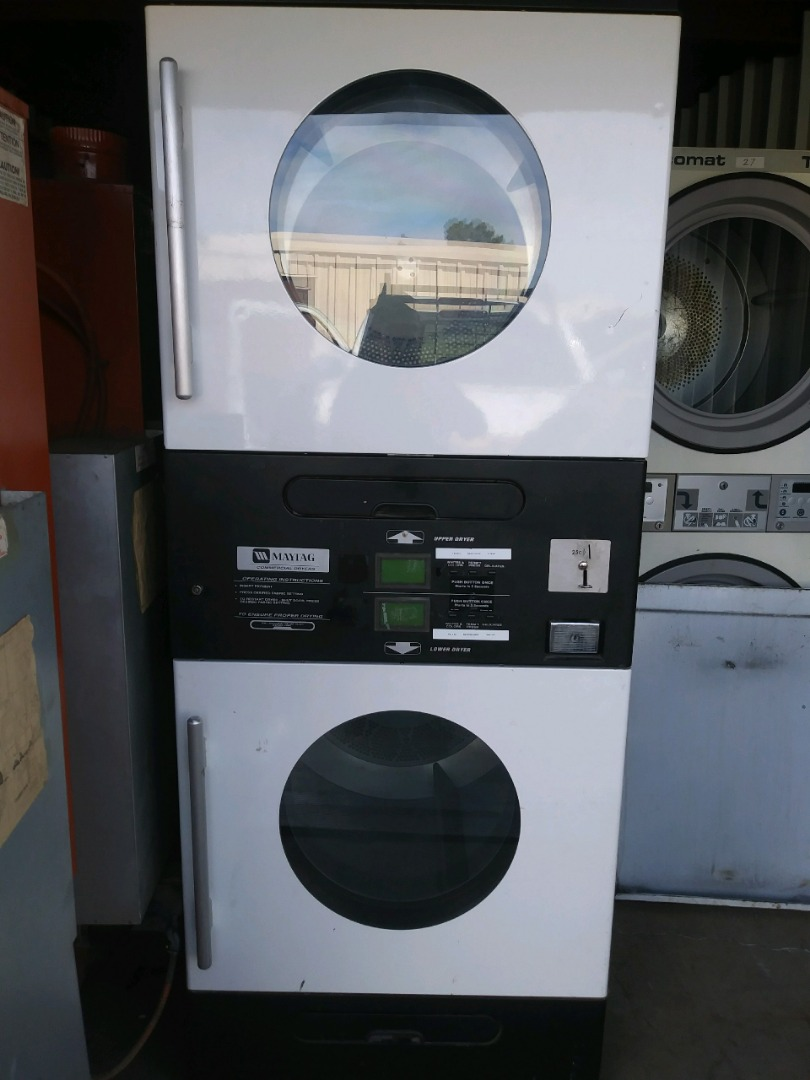Used Maytag Mlg33 30 Pound Stack Commercial Gas Coin Dryer