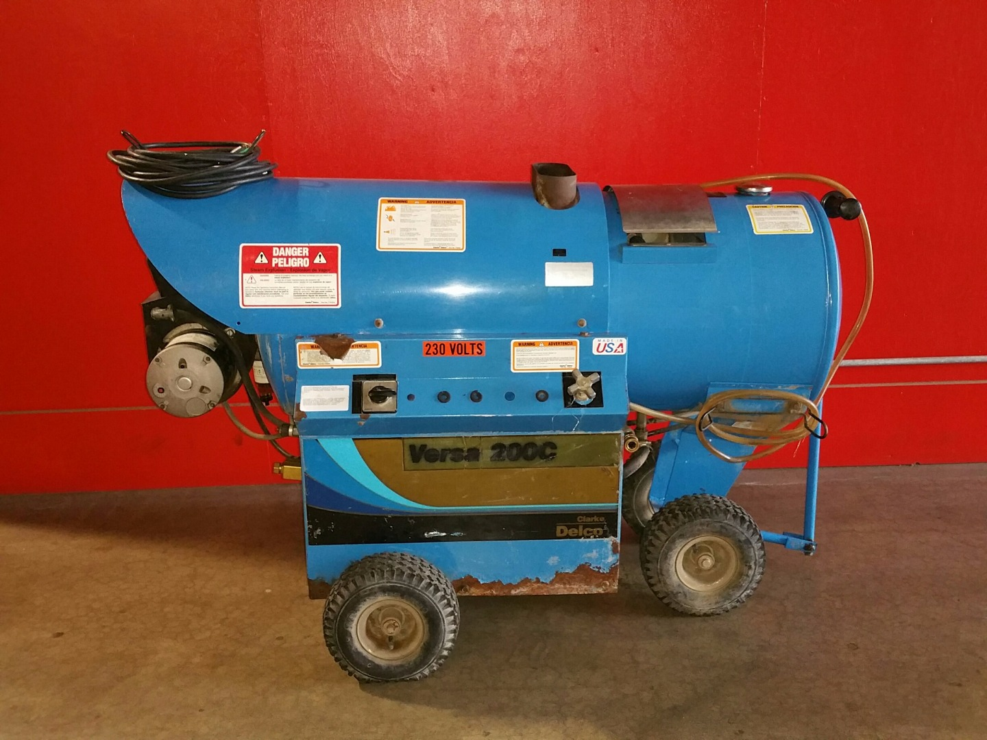 Used Delco Versa 200c Hot Water Diesel 3 5gpm   1200psi Pressure Washer