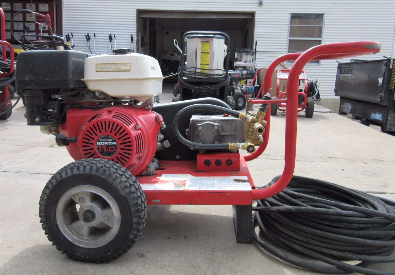 Used Hotsy Shark 445 Cold Water Gas 4gpm 2500psi