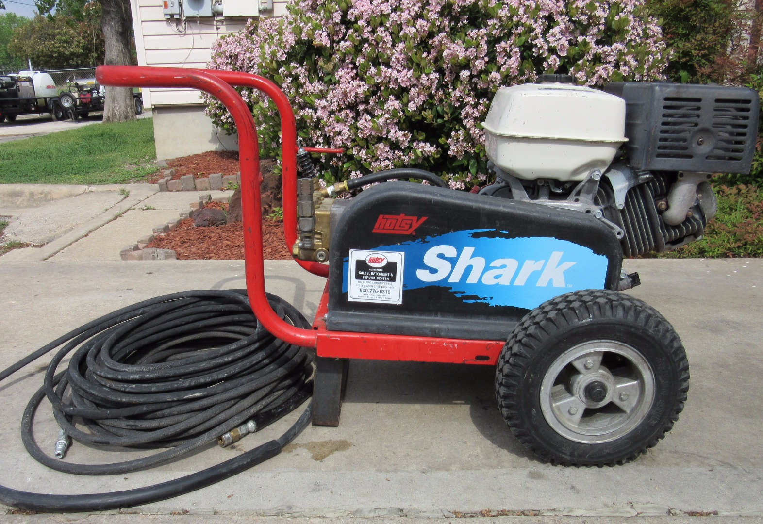 used hotsy shark 445 cold water gas 4gpm 2500psi pressure washer 1430755760263 used hotsy shark 445 cold water gas 4gpm @ 2500psi pressure washer hotsy pressure washer wiring diagram at edmiracle.co