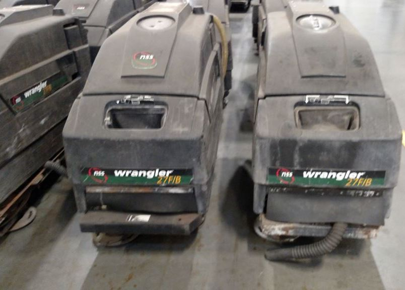 Used Lot Of 5 Nss Wrangler 27fb Floor Auto Scrubbers