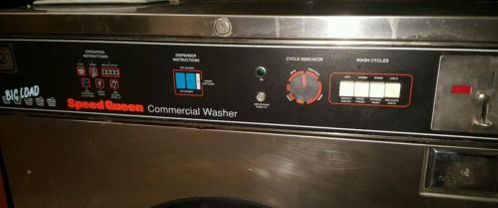 Used Speed Queen Sc50md2 50lb Coin Washer Stainless 208
