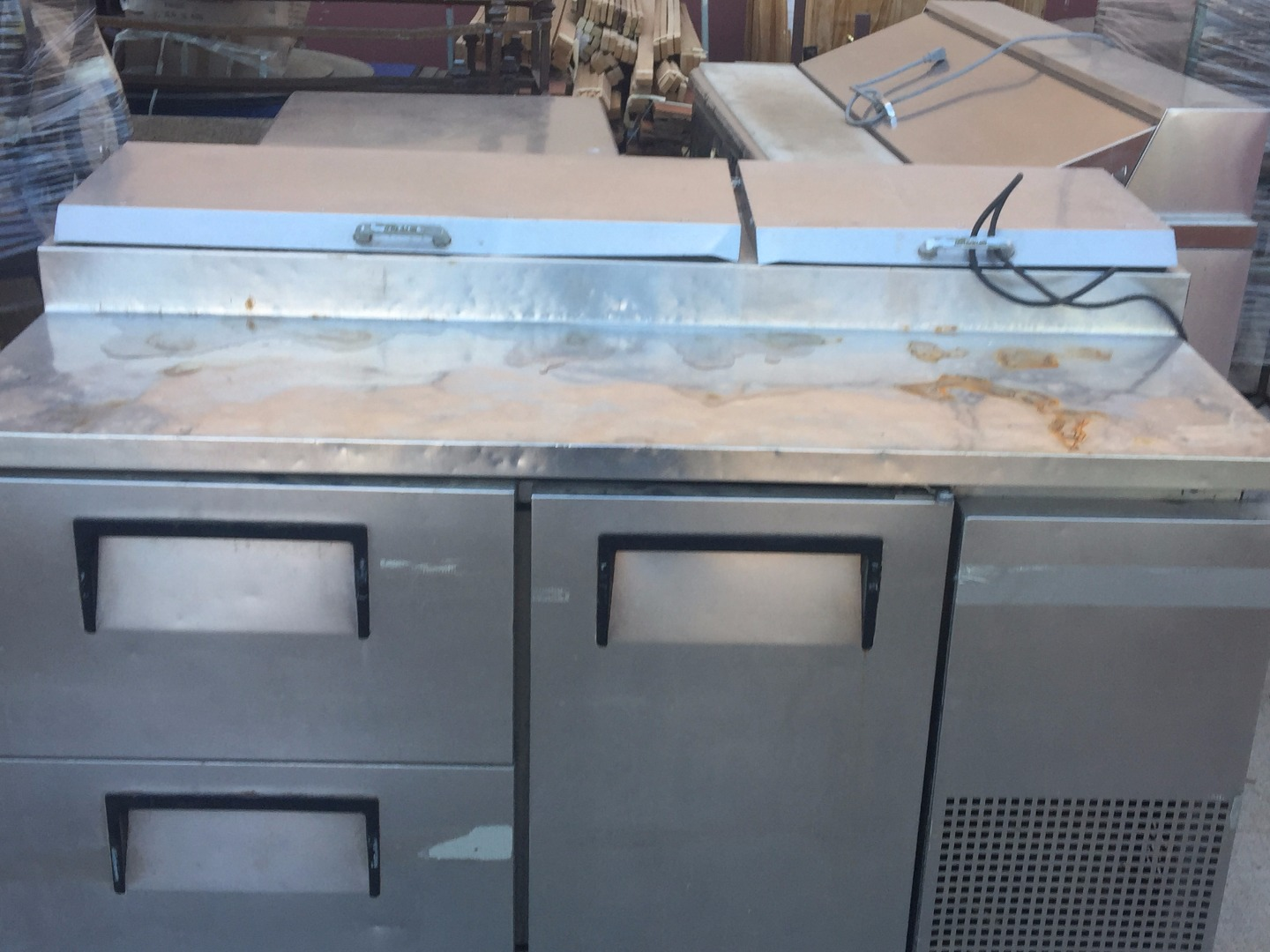 Used True Tpp 67 67 Refrigerated Pizza Prep Table
