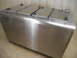 Stainless Kelvinator 8DF Flip Top Ice Cream Freezer Used, Tested Good