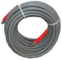 "3/8""x100Foot Non-Marking Smooth 4000PSI Pressure Washer Hose Never Used, Tested Good"