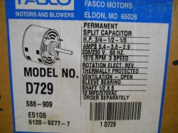 2 Fasco D729 3 Speed Blower Motors New in Box