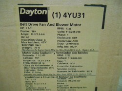Dayton Blower Motor 1.5hp New in Box