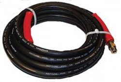 """4500 PSI 3/8""""x50' Black Neptune Goodyear Hose Never Used, Tested Good"""