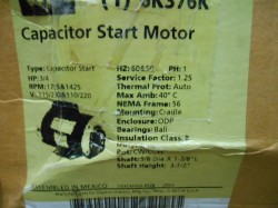 Dayton General Purpose 3/4hp Capacitor Start Motor New in Box