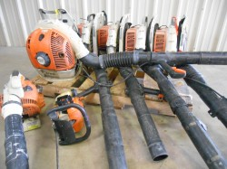 5 Stihl Backpack Blowers, 1 Handheld Blower, & 1 Trimmer Needs Repair