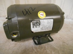 WEG 3-Phase Electric 1.5 HP Motor Good Condition