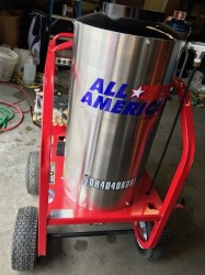 All American DH4040 Gas / Diesel 4000PSI Hot Pressure Washer Never Used, Tested Good