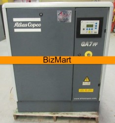 Atlas Copco 10 HP Rotary Screw Air Compressor & Air Dryer Used, Tested Good