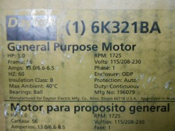 Dayton General Purpose 1hp Motor New in Box