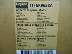 Dayton General Purpose 1/2hp Motor New in Box