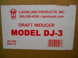 Tjernlund DJ-3 Draft Inducer New in Box