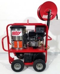 Hotsy 1075SSE Gas/Diesel 3500PSI Hot Pressure Washer W/Reel Used, Tested Good