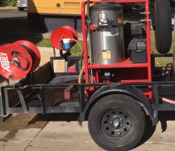 Hotsy 1260SS Hot Gas/Diesel 3000PSI Pressure Washer Trailer Never Used, Tested Good