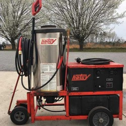 Hotsy 1410SS 3000PSI Hot Pressure Washer & Reel Used, Tested Good