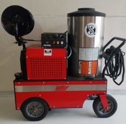 Hotsy 853SS 3000PSI Hot Pressure Washer & Reel Used, Tested Good