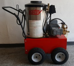 Hotsy 870SS Electric / Diesel 2000PSI Hot Pressure Washer Used, Tested Good