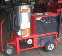 Hotsy 950SS Electric / Diesel 2000PSI Hot Pressure Washer Used, Tested Good