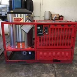 Hotsy HHS Diesel/Diesel 3000PSI Hot Pressure Washer Trailer Used, Tested Good