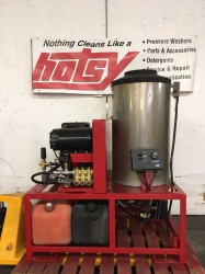 Hotsy 1260SSG Hot Gas / Diesel 2500PSI Pressure Washe Never Used, Tested Good
