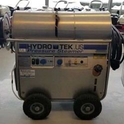 Hydro Tek 4GPM @ 2500PSI Hot Pressure Washer & Reel Used, Tested Good