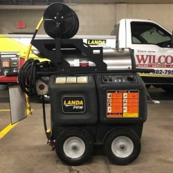 Landa 1PH / Diesel 3000PSI Hot Pressure Washer & Reel Used, Tested Good