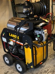 Diesel 8GPM @ 3000PSI Hot Water Pressure Washer New Delco Patriot Skid Gas