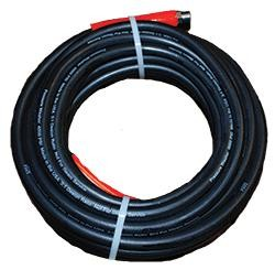 "3/8"" x 50 Foot Smooth Cover 4000PSI Pressure Washer Hose Never Used, Tested Good"