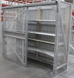 Security Cage with Gondola Shelving Used, Excellent Condition
