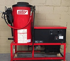Hotsy 981 Hot Electric / Natural Gas 2000PSI Pressure Washer Used, Tested Good