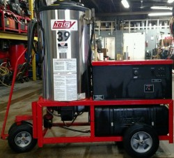 Hotsy 993SS Electric / Diesel 2000PSI Hot Pressure Washer Used, Tested Good