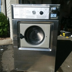 Wascomat 20 Pound Coin Laundry Washer Stainless Used, Tested Good
